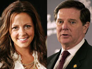 Sara Evans and Tom Delay